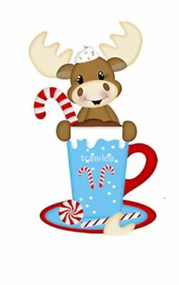 £7.25 • Buy Reindeer, Candy Cane Mug With Saucer And Candy Canes Metal  Die Cutter