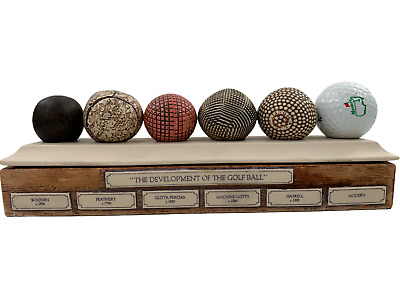 £27.55 • Buy The Development Of The Golf Ball Vintage Display Desktop Paperweight Masters ...