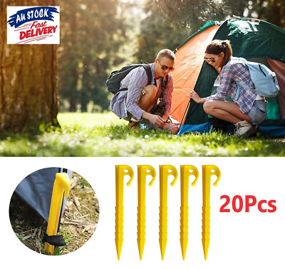 AU12.89 • Buy 20pcs Durable Sand Tent Pegs Garden Stakes For Beach Mat Camping Hiking Garden