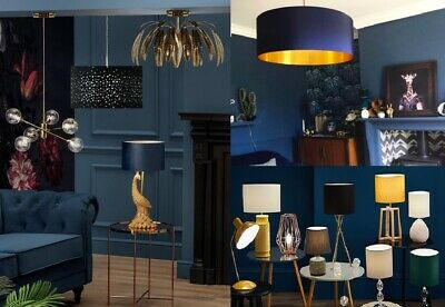 £8.99 • Buy Modern Lampshade Easy Fit Ceiling Drum Fabric Light Shades Pendant Table Decor