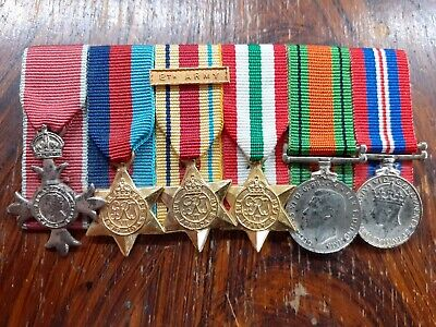 £67 • Buy Ww2 Contemporary Miniature Medal Group Of 6 Mbe 8th Army Africa And Italy Stars