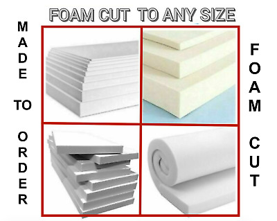 £0.99 • Buy High Density Cut To Size Upholstery Foam Sheet Cushion Seat Pad Any Thickness