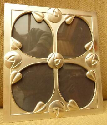 £5.99 • Buy Lovely Metal Art Nouveau Charles Rennie Mackintosh Style 4 Section Photo Frame