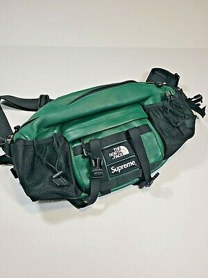 $ CDN414.60 • Buy SUPREME THE NORTH FACE LEATHER WAIST BAG TNF AZTEC  FW18 Green