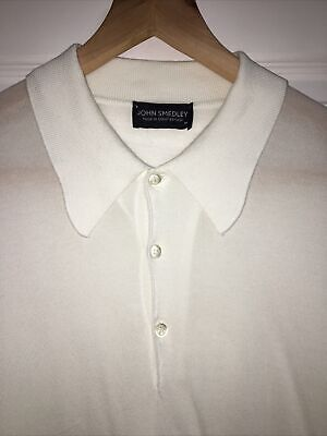 £8 • Buy White Long Sleeved John Smedley Knitted Mod Top Size M