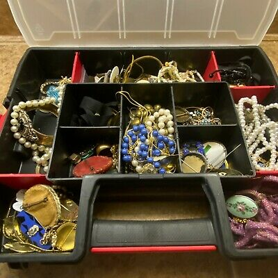 $ CDN52.38 • Buy Vintage New Junk Jewelry Lot Necklace Rings Estate Antique Silver Gold Filled