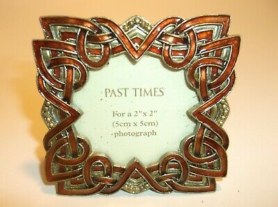 £14 • Buy Past Times Enamelled Celtic Style    2x2 Inch Aperture Photo Frame- Lovely!