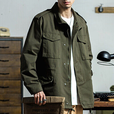 $66.99 • Buy M65 Field Jacket Men's Military Army Green Vintage Casual Pockets Overalls Coats