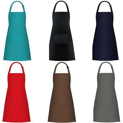 £4.79 • Buy Plain Unisex Cooking Catering Work Craft Apron Tabard Front Pocket 100% Cotton