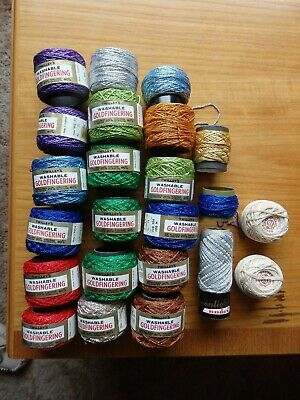 £30 • Buy TWILLEYS GOLDFINGERING CROCHET 100m THREADS BUNDLE MAINLY NEW + 3 OTHERS