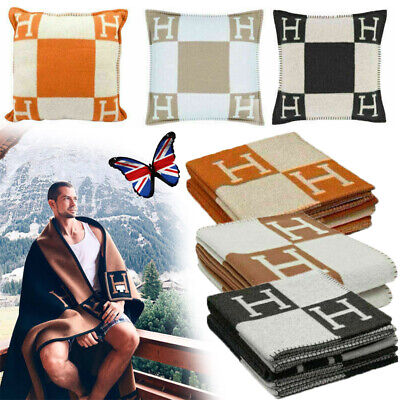 £25.88 • Buy Wool Cashmere H-Blanket Throw Fashion Travel Cape Scarf Pillowcase Artificial UK