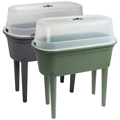 £22.99 • Buy Elevated Greenhouse Plastic Raised Garden Bed Planter Pot Box Plant Kit With Lid