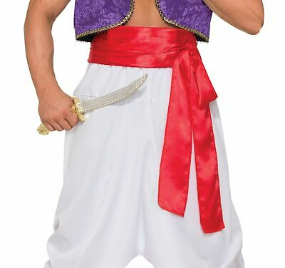 £4.92 • Buy Desert Prince Deluxe Waist Belt Sash Red Adult Pirate Genie Costume Accessory