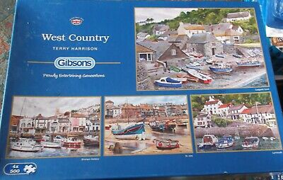 £7.99 • Buy Gibsons 4 X 500 Piece Jigsaws - West Country - Terry Harrison