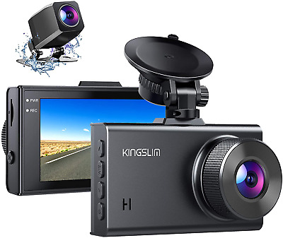 AU159.53 • Buy Kingslim D2 2.5K Dual Dash Cam, 1440P/1080P Front And Rear Camera For Cars 170 D