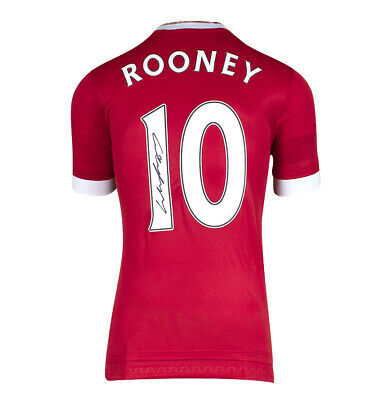 £255.99 • Buy Wayne Rooney Signed Manchester United Shirt 2015-16 - Number 10 Autograph