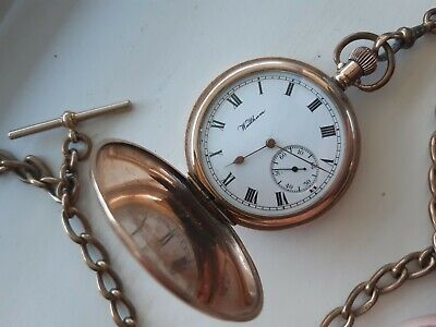 £150 • Buy Antique Gold Plated Waltham Pocket Watch C.1909