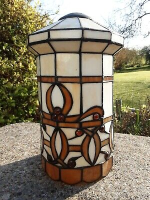 £17.49 • Buy Stunning TIFFANY Style Stained Glass PENDANT Lamp Shade 12  X 7  12 Sided Drum