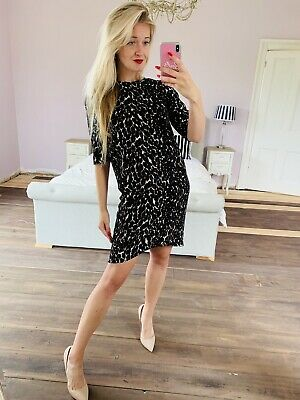 £29 • Buy Whistles 8 Leopard Print Tunic Dress Rock Chic Party Glamour Career Office Date