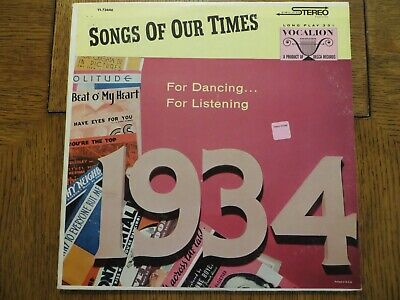 £15.93 • Buy Bob Grant & His Orchestra – Song Hits Of 1934 - Vocalion VL 73646 LP EX/VG+!!!