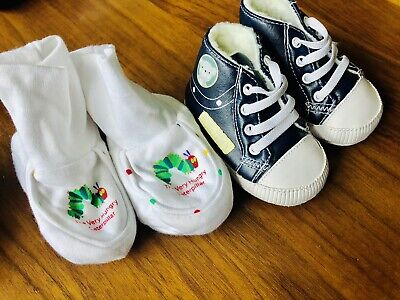 £1.99 • Buy New Newborn Shoes Unisex + The Hungry Caterpillar Socks/shoes