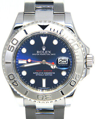 AU20042.12 • Buy Rolex Yacht-Master Steel & Platinum Blue Dial 40mm Watch Box/Papers '17 116622