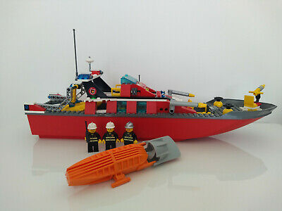 £22 • Buy LEGO 7906 Fireboat (Fire Boat) Complete FULLY WORKING MOTOR Town City