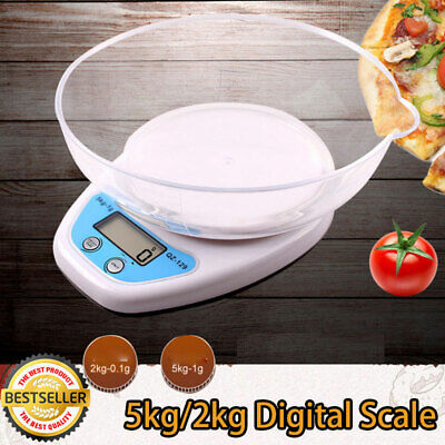 £14.09 • Buy 2kg/5kg Digital Kitchen Scales Lcd Electronic Cooking Food Measuring Bowl Scale