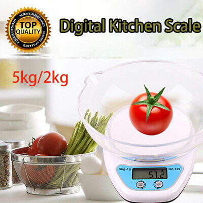 £14.09 • Buy Electronic Digital 2KG/5KG Kitchen Cooking Blue+White With Bowl Weighing Scales