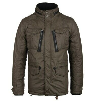 $169.23 • Buy Schott NYC Olive Khaki Quilted M65 Troop Utility Field Jacket Parka Small Slim