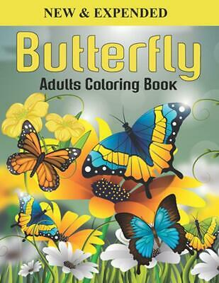 $12.03 • Buy Butterfly Adults Coloring Book By Mr Creative Press Paperback Book Free Shipping