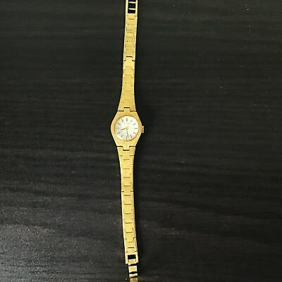 $ CDN9.34 • Buy Ladies Citizen Gold Smooth Embossed Link Watch Silver Face #710