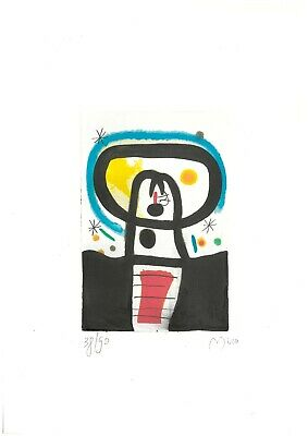£42.49 • Buy Joan Miro' Old Etching - Hand Signed In Pencil - Rare!!!