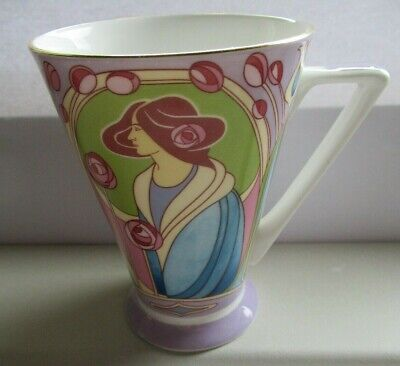 £5 • Buy Glasgow Rose - Past Times Collection By Queens - Art Deco Style Bone China Mug.