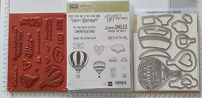 £3.30 • Buy Stampin' Up! Lift Me Up Stamp Set & Co-ordinating Up And Away Thinlits Dies