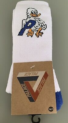 £19.99 • Buy NWT Palace Skateboards Mens Duck Out Socks P-Logo Knot Crew. Size L/XL