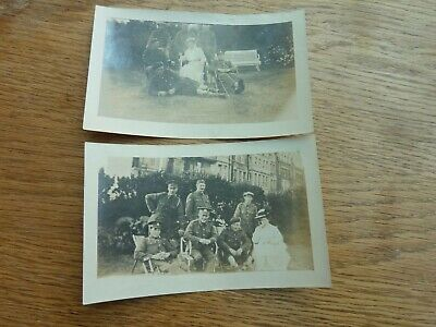£4.99 • Buy Ww1 2 X Original Photos Wounded Soldiers Inc Highlander In Uk + Lady 4.5 X 3