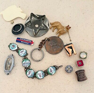 $ CDN9.96 • Buy Vintage Antique Junk Drawer Lot Jewelry Repair Or Craft Some Signed