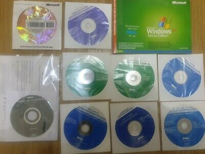 £6.99 • Buy Various Discs - Genuine - XP Home Edition With Booklet , Office 2003 +Dell Discs