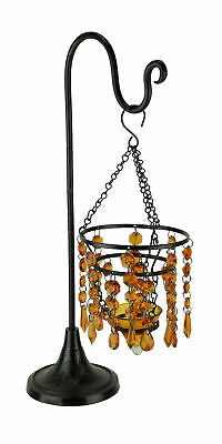 £17.20 • Buy Glass Beaded Chandelier Votive Candle Holder On Stand Table Centerpiece