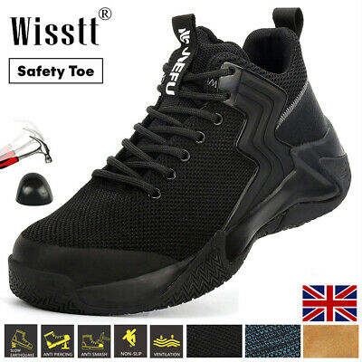 £29.99 • Buy Womens Men Steel Toe Work Boots Biker Safety Shoes Leather Durable Knit Trainers