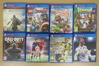 AU36.88 • Buy Lot Of PlayStation 4 PS4 Games Fifa, CoD, Assassins Creed, Lego, LBP3 [848]