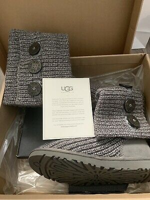 £25 • Buy UGG Boots Classic Cardy UK Size 3.5 Grey Knitted
