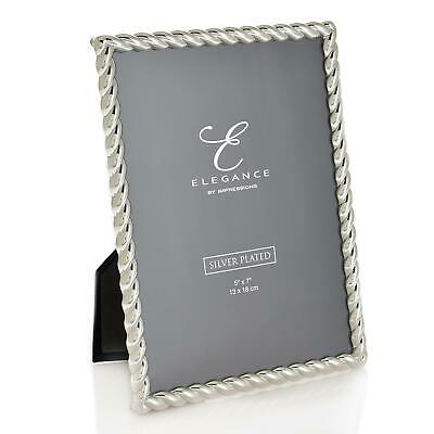 £16.95 • Buy Elegance By Impressions Silver Plated Rope Twist Photo Frame Picture Gift Box