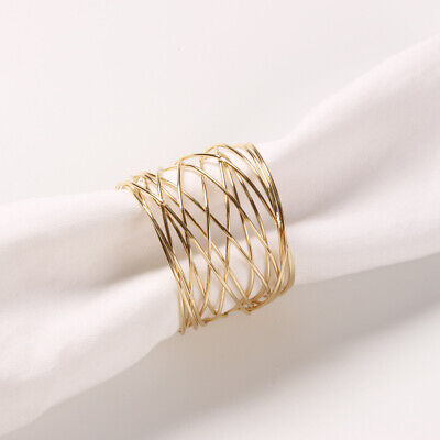 £9.69 • Buy 1/12Pcs Round Mesh Napkin Ring Weddings Dinner Parties Party Decor Accessories