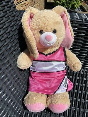 £6 • Buy Build A Bear Bunny Rabbit Plush In Cheerleading Outfit Pink Cheerleader