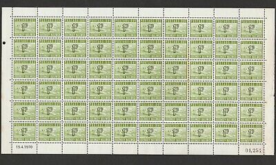 £1 • Buy Bailiwick Of Guernsey 1970 Full Sheet Of One Penny Postage Due Stamps Mnh