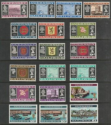 £1 • Buy BAILIWICK OF GUERNSEY 1969 SET OF PRE-DECIMAL STAMPS INCLUDING 10s VARIETIES MNH