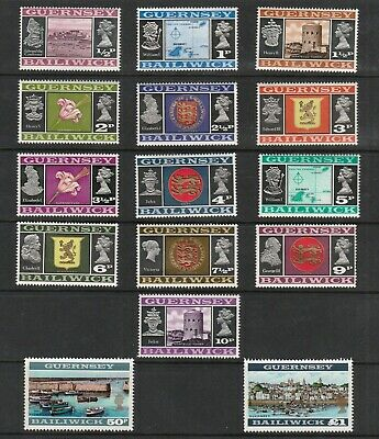 £1 • Buy Bailiwick Of Guernsey 1971 Early Decimal Stamps To One Pound Mnh