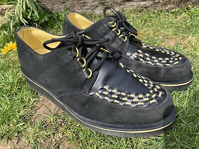 £29.99 • Buy Dr Martens Rare Creeper Beck Black And Yellow Leather & Suede Size Uk 7 Shoes
